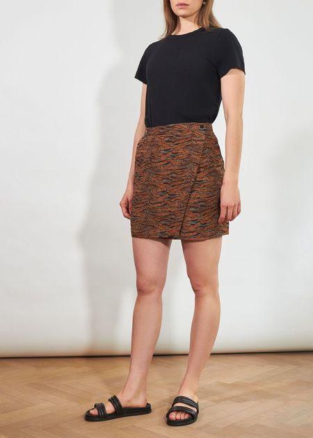 Roseanna Landscape Town Skirt - caramel