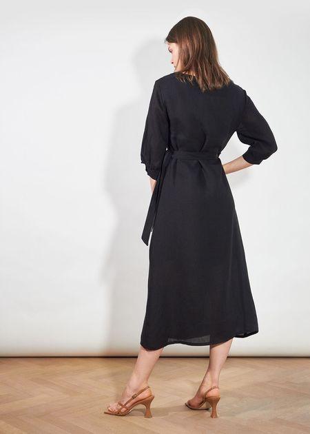 Jungle Folk Wanja Wrap Dress - Black