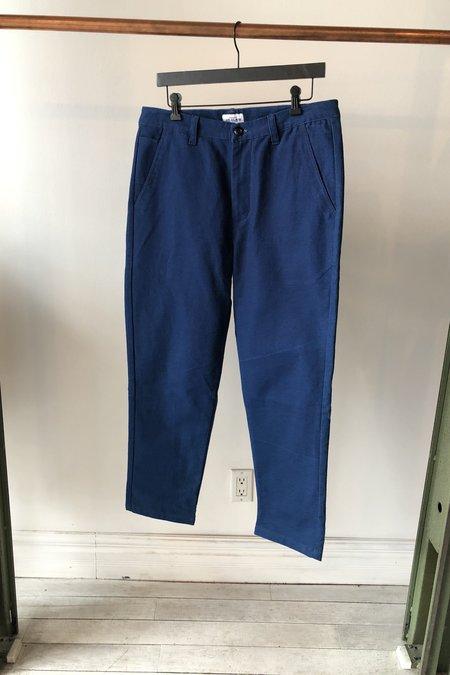 House of St. Clair Atlas Melon Cloth Trouser  - Indigo