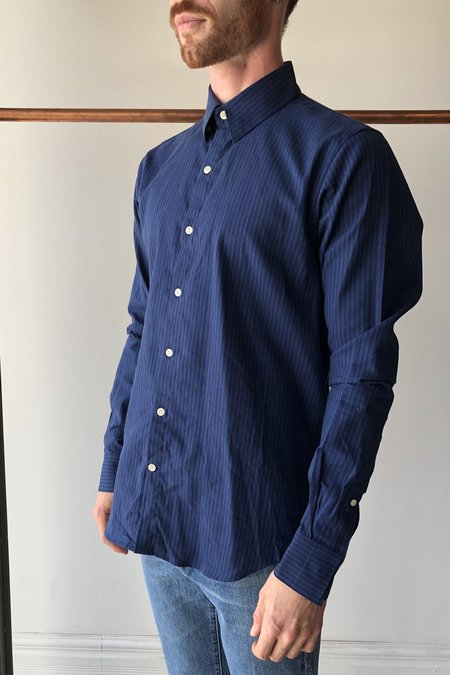 18 Waits Dylan Shirt - Indigo Stripe