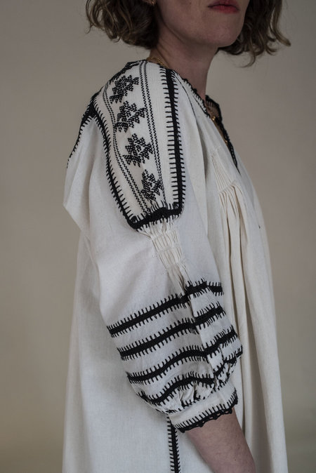 Las Ninas Espanola L/S Dress - White/Black