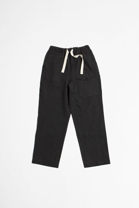 A Vontade Linen British Military Easy Trousers - Ink Black