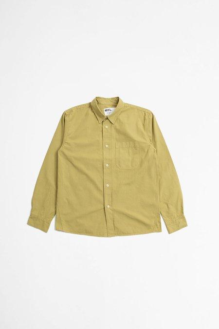 Margaret Howell Coarse Yarn Cotton Painters Shirt - Pale Khaki