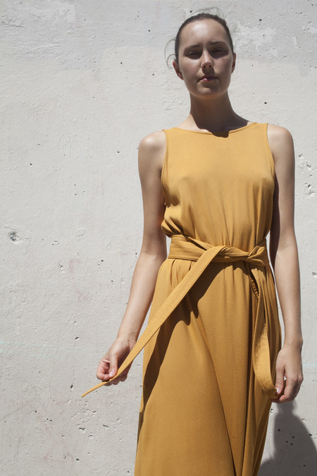 Jesse Kamm Palma Dress in Gold