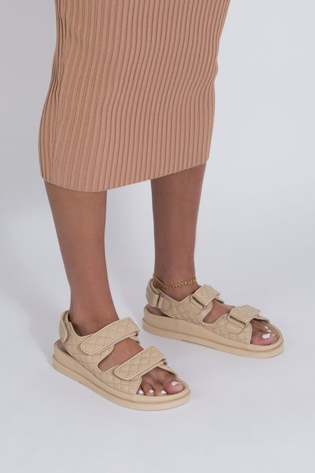 Ducie Sonia Quilted Sandal - Nude