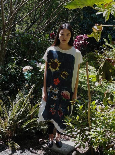 Anntian Tunika Panel Print Dress - Panel Print