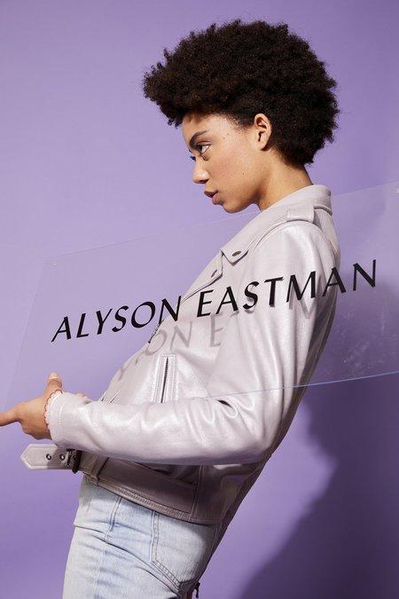 alyson eastman Pearlized Moto Jacket - Lavender