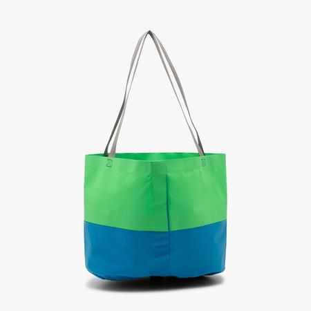 Real Bad Man Rubber Tote - Green/Blue