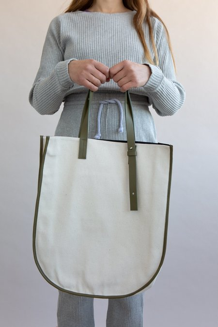 WOLF & GYPSY VINTAGE Handmade Canvas Tote Bag - Off White