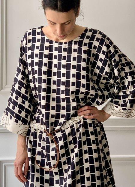 La Prestic Ouiston Michelle Dress - Cream/Black