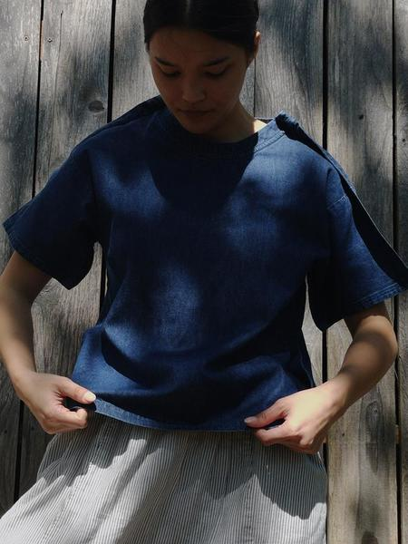 A--Company Woven Outline Tee - Blue