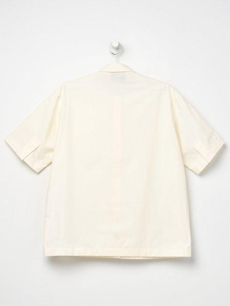 Studio Nicholson Short Sleeve Shirt - Milk