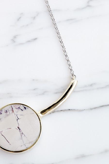 Quarry Salvador Necklace in Brace, Marble Jasper