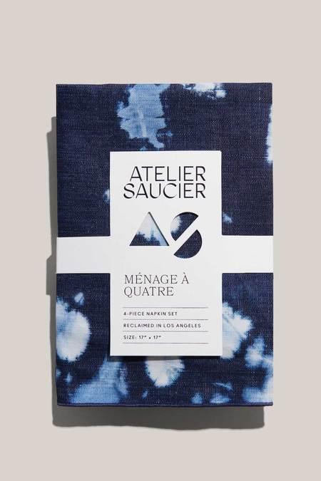 ATELIER SAUCIER Linen Napkins - Tie-Dye Denim