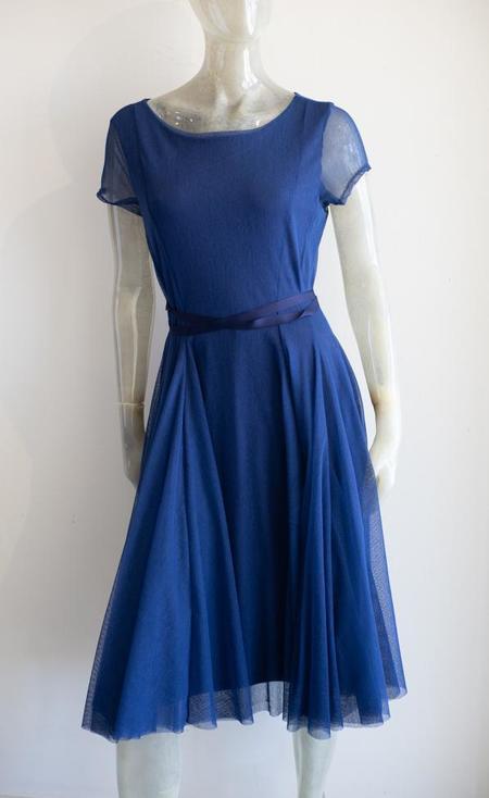 Porto Ravenna Mesh Dress - royal blue