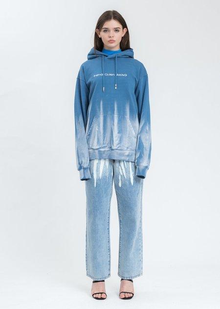 Feng Chen Wang Gradient Tie Dye Hoodie sweater - blue