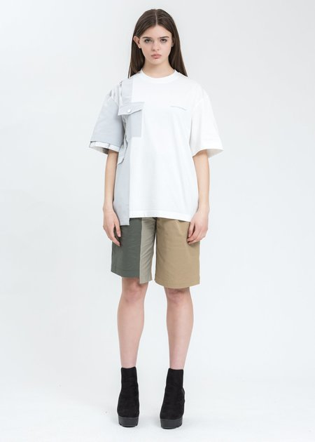 Feng Chen Wang Paneled T-Shirt - white