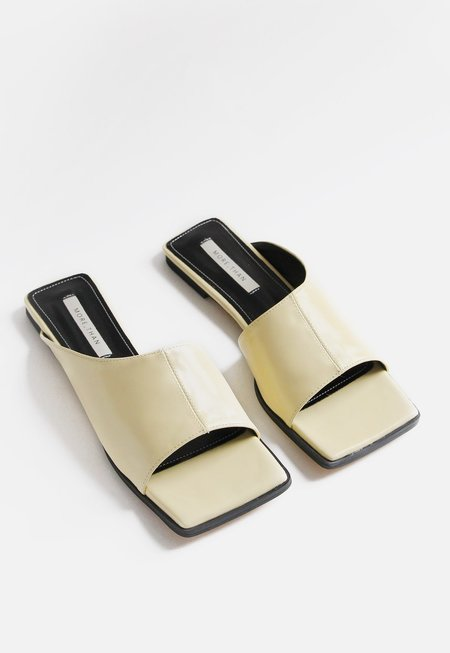 Another Asymmetric Panel Sandal - Yellow