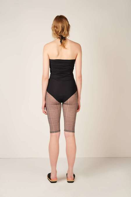 MM6 Maison Margiela Ruched Detail Swimsuit - Black