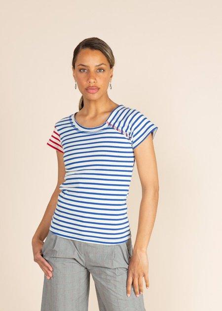 Echappees Belles Kif T-Shirt - Blue Stripe