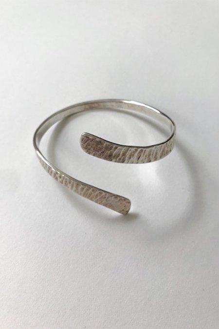 Artisanal Snake Cuff - sterling silver