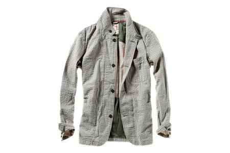 Relwen Trop Field Blazer - Cement Grey Seersucker