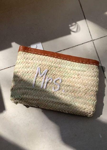 Marrakech shop design MRS straw clutch - Natural
