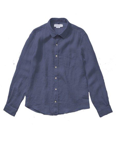 EDMMOND STUDIOS Smart Linen Shirt - Plain Steel
