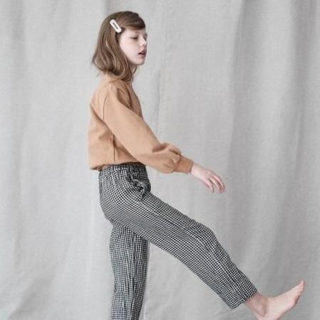 kids unisex Poudre Organic Pomelos Pant - Vichy