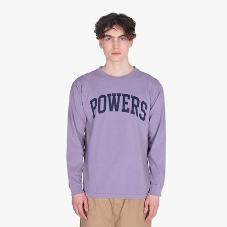Powers Supply Powers Arch Long Sleeve T-shirt - Muted Plum