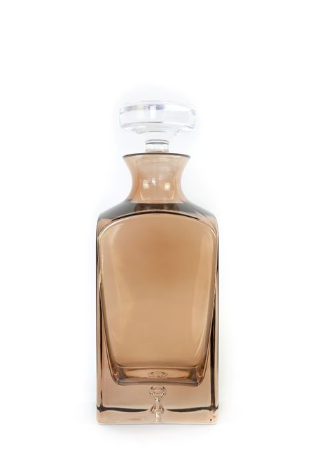 Estelle Colored Glass Decanter - Amber Smoke