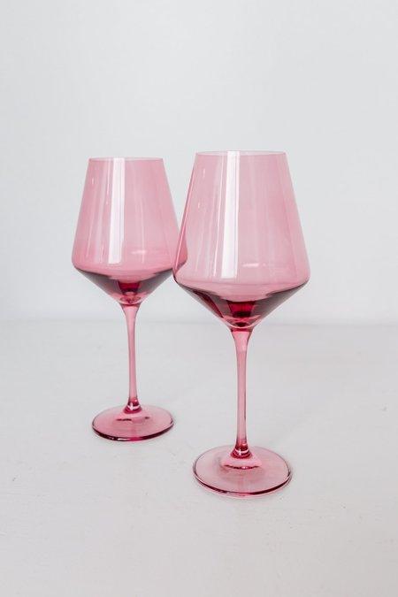 Estelle Colored Glass Wine Glasses - Rose