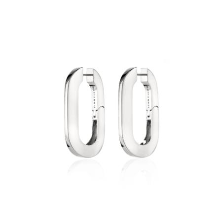 Jenny Bird Mega U-Link Earrings - silver