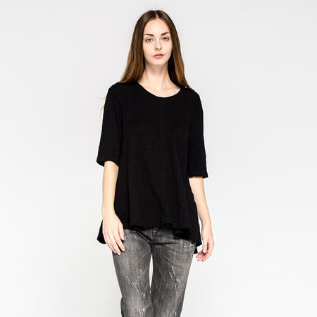 Wilt elbow sleeve trapeze tee - black