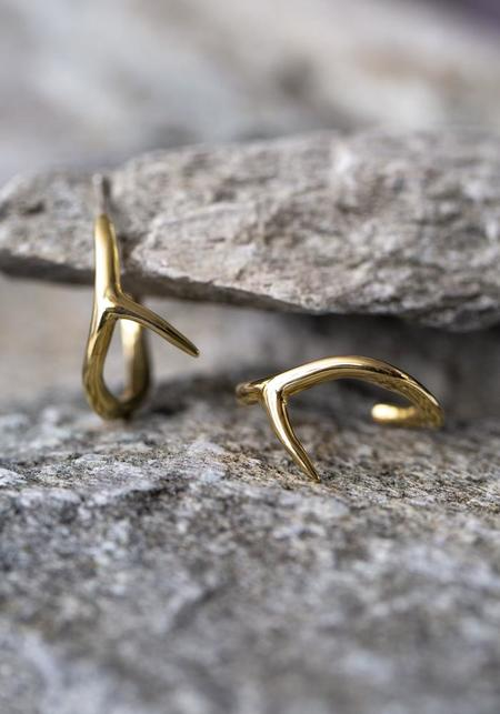 JACQUELINE ROSE Mini Thorn Hoops - Bronze