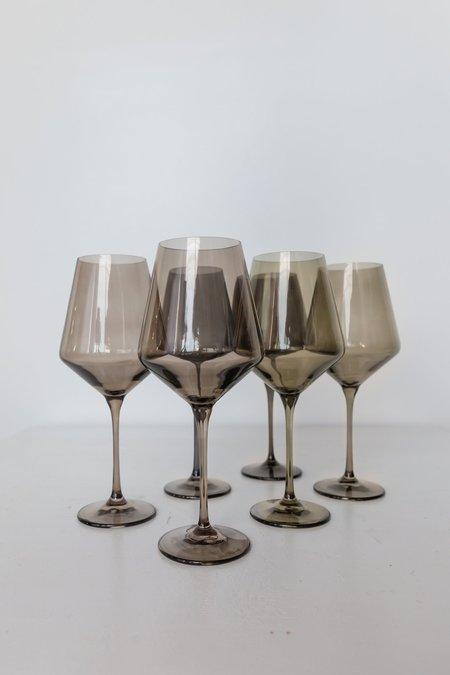 Estelle Colored Glass Wine Glasses - Grey Smoke