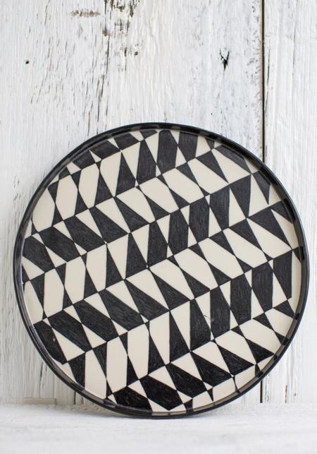 Rust Designs No. 12 Hand Painted Ceramic Platter