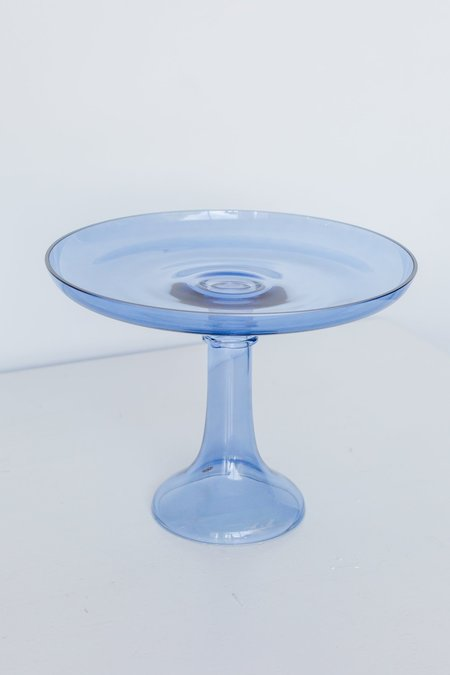 Estelle Colored Glass Cake Stand - Cobalt Blue