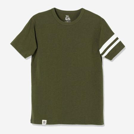 Momotaro Jeans Going to Battle Sleeve T-Shirt - Olive Green