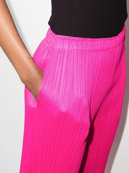Pleats Please by Issey Miyake Straight Pant - Hot Pink