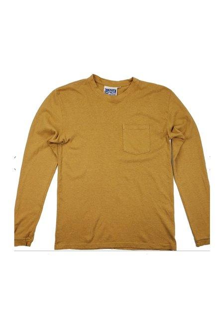Unisex Jungmaven Baja Long Sleeve Pocket Tee - Marigold