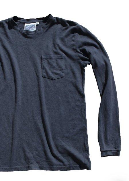 unisex Jungmaven Baja Long Sleeve Pocket Tee - Navy