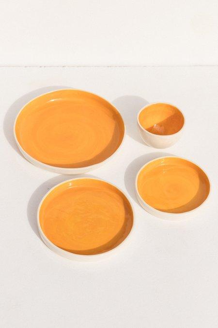 Abs Objects Plate - Orange