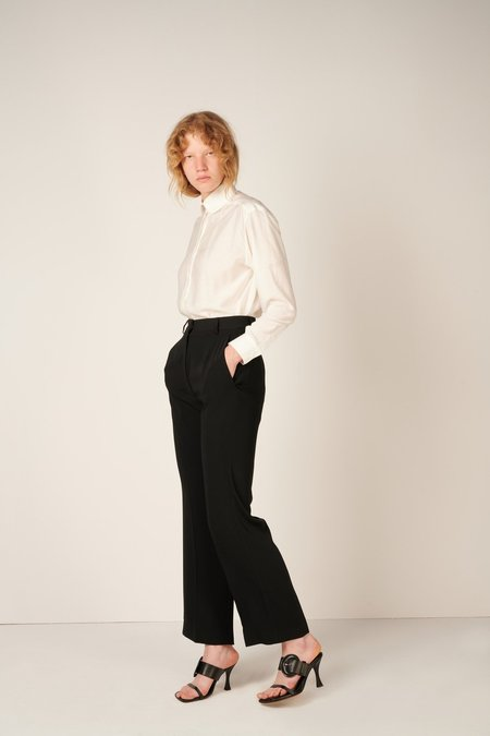 MM6 Maison Margiela Straight Leg Tailored Trousers - Black