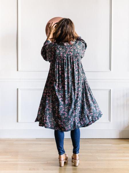Saltwater Luxe Nikki Robe Kimono - Dark Bouquet