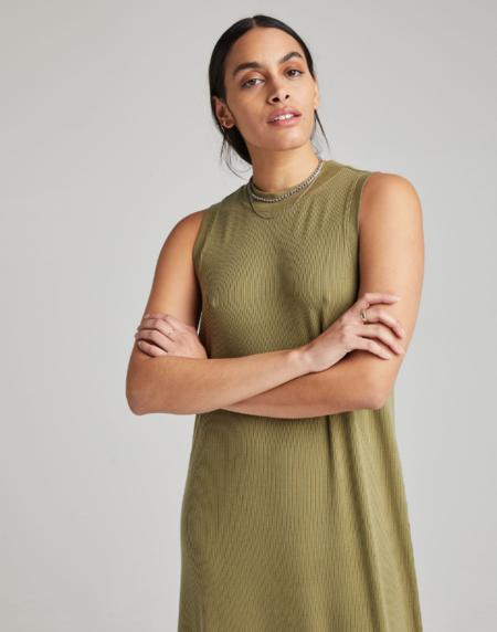 Richer Poorer Vintage Rib Column Dress - Olive Army