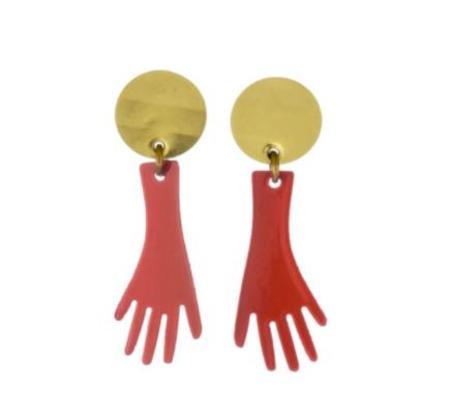 Sibilia Nice to Meet You Earrings - Papaya