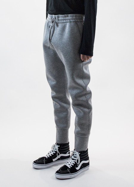 Helmut Lang Grey Curved Leg Track Pant