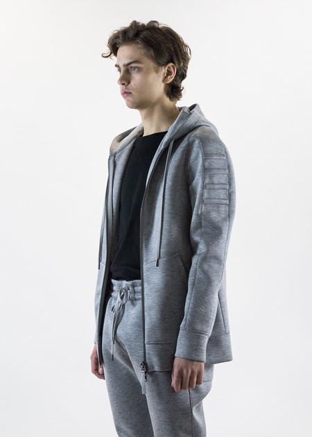 Helmut Lang Grey Tape Zip Up