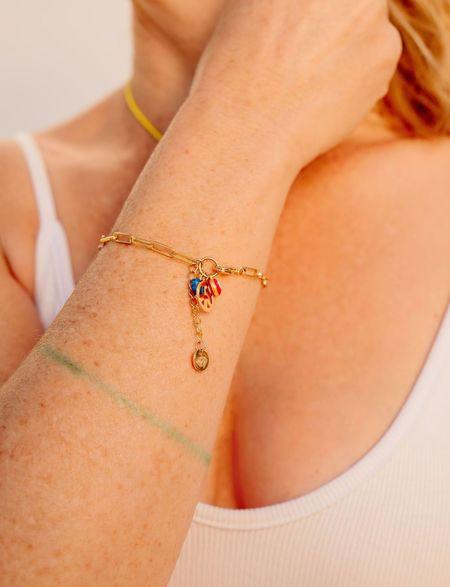 PUNKWASP Peace, Love, & Protection Bracelet - Gold